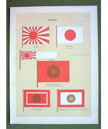 FLAGS Japan Emperor Standard Prince Imperial Ensign - 1899 Color Litho P... - $16.20