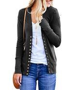 NENONA Women's V-Neck Button Down Knitwear Long Sleeve Soft Basic Knit C... - $29.51
