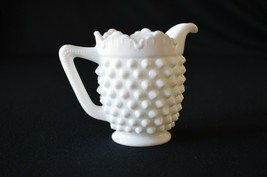 Fenton White Milk Glass Hobnail Creamer #3606 MI - $6.44