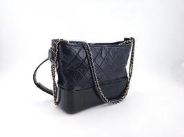 AUTHENTIC CHANEL Black Quilted Calfskin Medium Gabrielle Hobo Bag RECEIPT