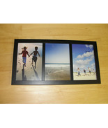 "Triple 4"" x 6"" Black Wood Picture Frame (Never Used) New - $17.81"