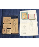Stampin Up - Retired - REJOICING IN CHRISTMAS - Rubber Stamp Set - $8.01