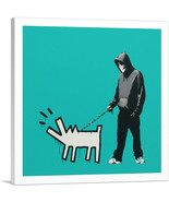ARTCANVAS Choose Your Weapon Keith Haring Dog - Teal Canvas Art Print by... - $41.99+