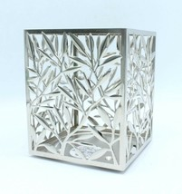 Bath Body Works Vines Leaves Square Shaped Candle Sleeve Holder 3 Wick - $14.99