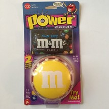 Vintage Power Candy Yellow M&M Dispenser Battery Operated Sealed - $12.86
