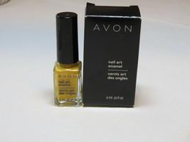 Avon nail Art Enamel Yellow Glow 6 ml 0.20 fl oz nail polish mani pedi - $10.74