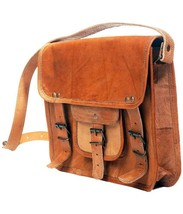 "New Man 11"" Unisex Formal Rustic Soft Leather Travel Brown Laptop Messen... - $81.93"