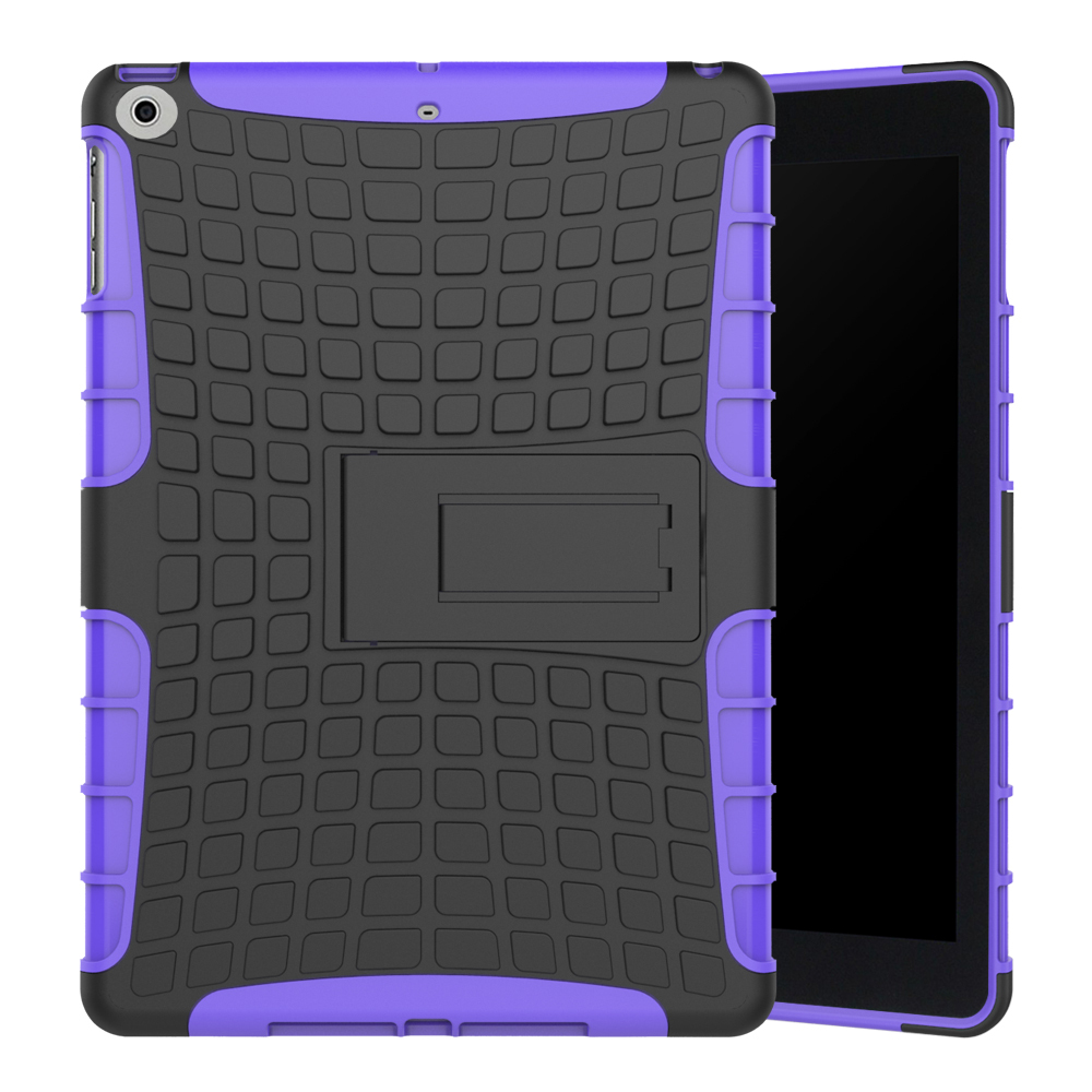 Hockproof dual layer protective kickstand case for apple ipad 9 7 2017 purple p20170505160859218