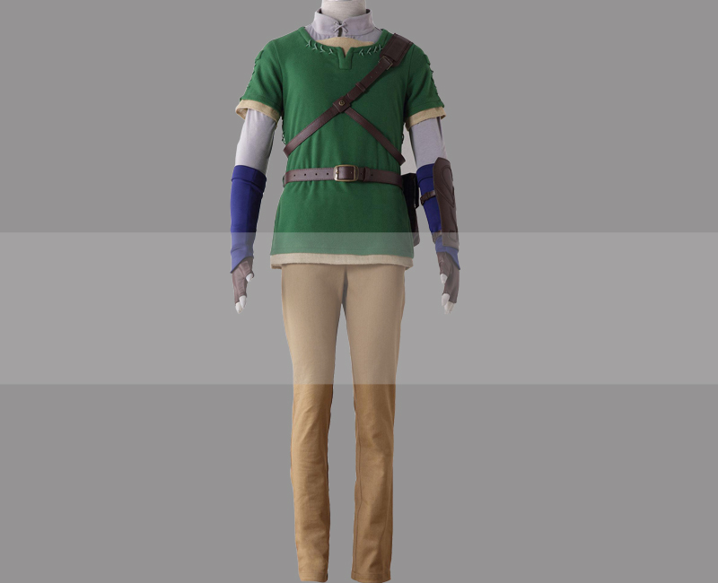 The legend of zelda twilight princess link cosplay costume for sale