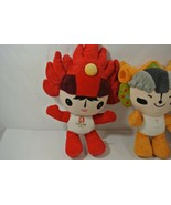 Beijing 2008 Summer Olympics Fuwa Plush Lot of 6 Beibei Jingjing Huanhua... - $33.85