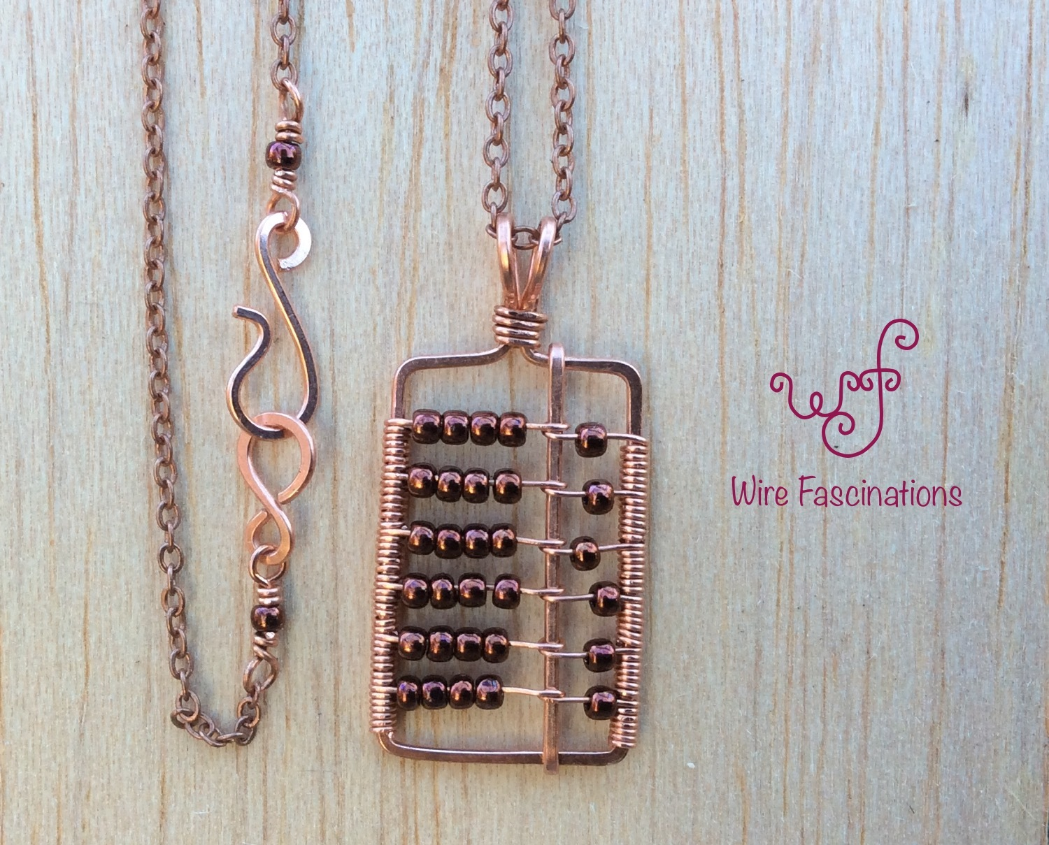 Handmade Copper Pendant And Necklace Abacus And 50 Similar Items