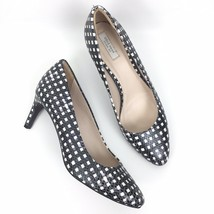 Women Cole Haan Size 8.5B Leather Embossed Check Printed Almond Toe Pumps - $19.62