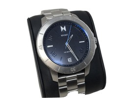 MVMT Watch Men 43MM Silver with Black Dial and Date Rotating Bezel - $52.24