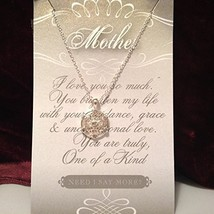 Mother Crystal Snowflake Necklace with Gift Card