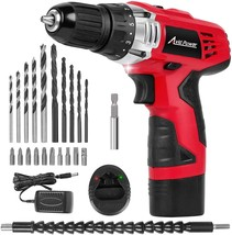 Power Drill Set with 22pcs Impact Driver/Drill Bits, 2 Variable Speed, 3... - $45.52