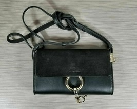 Chloe Faye Mini Leather & Suede Wallet Bag Black - $419.99