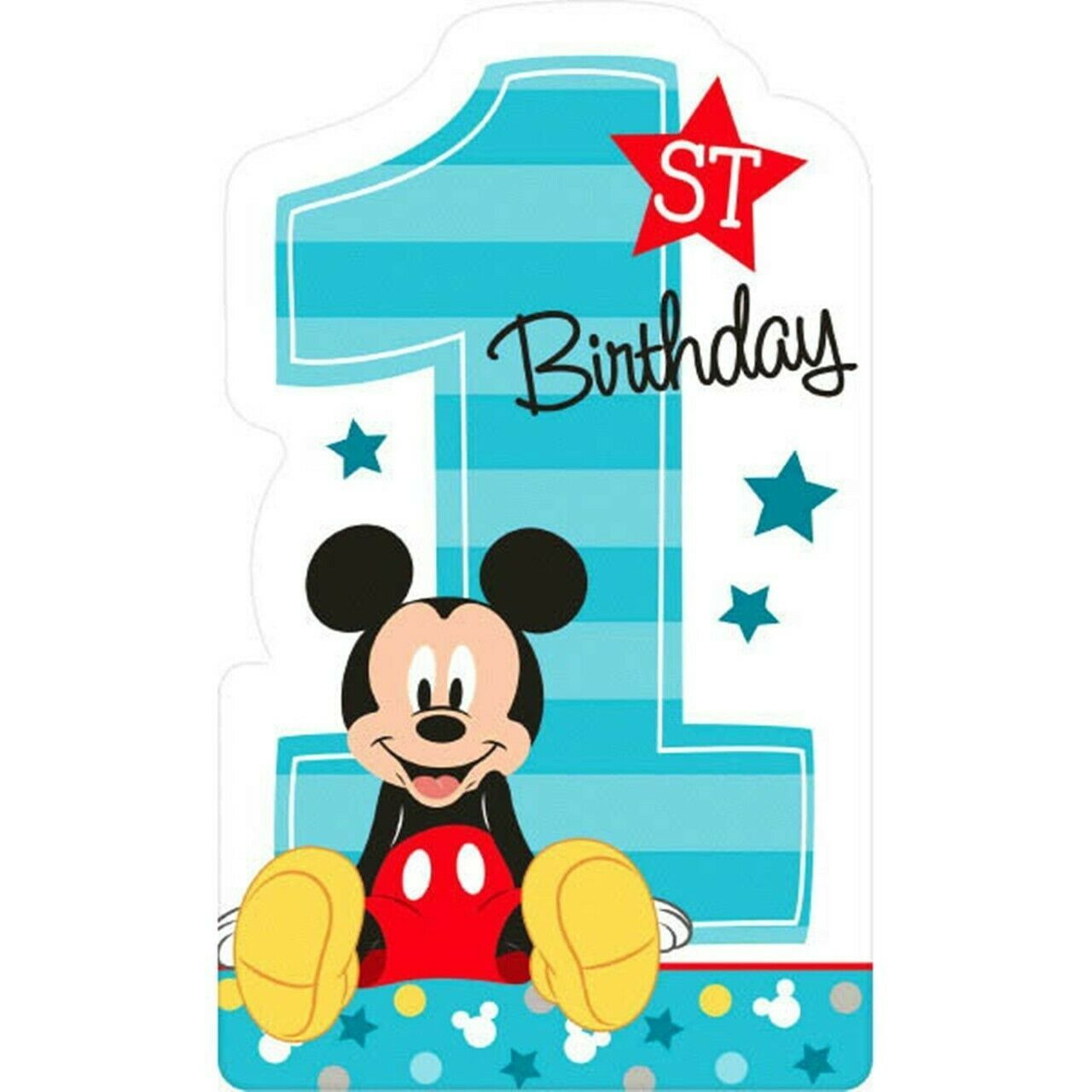 Mickey Mouse Fun to Be One 8 Postcard Invitations 1st Birthday Party - $5.93