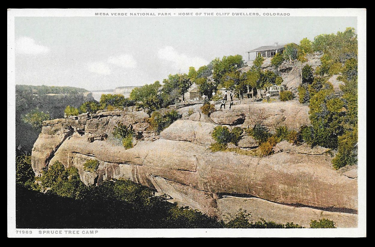 Cliff Dewellers Postcard Colorado Mesa Verde National Park Spruce Tree Camp CO P