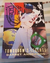 1996 Fleer Tomorrows Legends #1 of 10 Garret Anderson ANGELS - $1.00