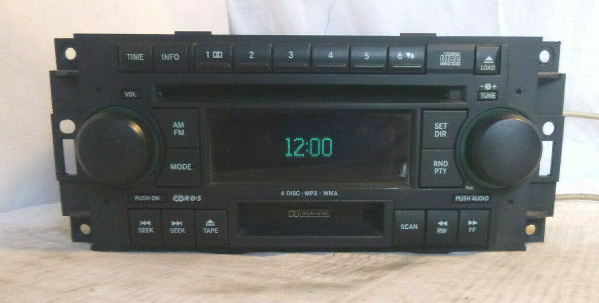 05-09 Chrysler Dodge RAK Radio 6 Disc Cd Mp3 Cassette Player P05091523AM CFL404