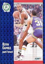 Kevin Gamble ~ 1991-92 Fleer #11 ~ Celtics - $0.05