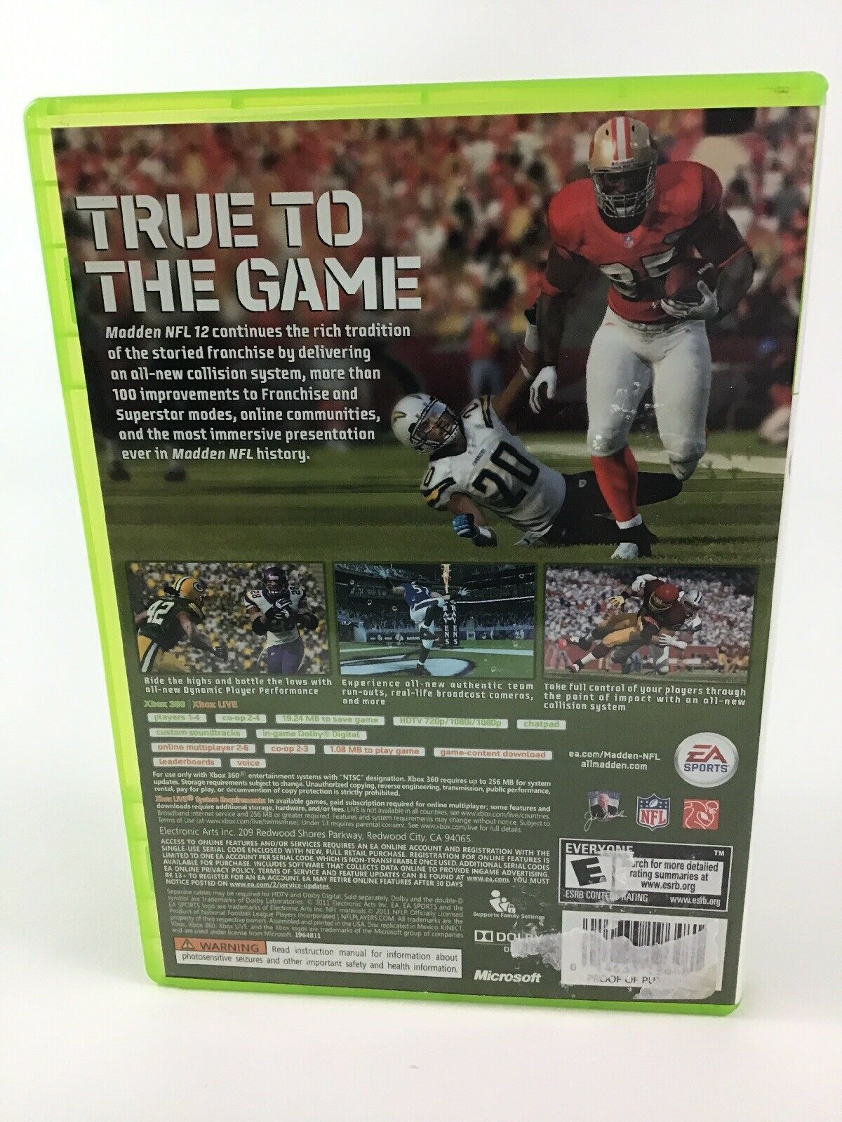 Madden NFL 12 Xbox 360 EA Sports Football Video Game Cleveland Browns
