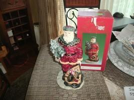 20#12   Windsor Collection Santa Collectible holding Christmas Tree & Ba... - $21.77