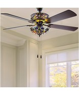 "River of Goods 52"" Tiffany Style Magna Carta Ceiling Fan and Remote Control - $350.00"