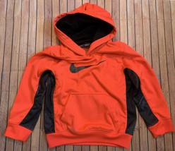 Boys Nike Therma Fit Neon Orange Hoodie Size 5 - $17.82
