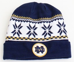 Under Armour Notre Dame Blue Knit Cuff Beanie Men's One Size NWT - $29.69