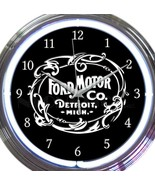 Ford Motor Co and Parts New Neon Clock Pair 15 Inch Set 2 Man Cave Offic... - $137.60