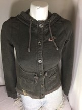 Hollister Gray Button Up Jacket Size Small Made In China Bin61#40 - $18.70
