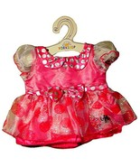 Build a Bear Minnie Mouse Signature Pink Polka Dot Party Dress Teddy Dol... - $44.95