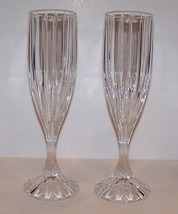 "Stunning Pair Of Mikasa Crystal Park Lane 8 5/8"" Champagne Flutes - $26.13"