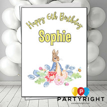 Personalised Peter Rabbit Girl Boy Birthday Card  Name And Age  - $2.55