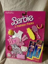 Vintage Mattel 1989 Barbie 2 Fashion Packs & Accessories # 718-3 MIP (p) - $19.79