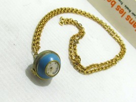 ATLANTA VINTAGE EARLY CENTURY PENDANT WATCH SWISS MADE ENAMEL & METAL GO... - $371.46 CAD