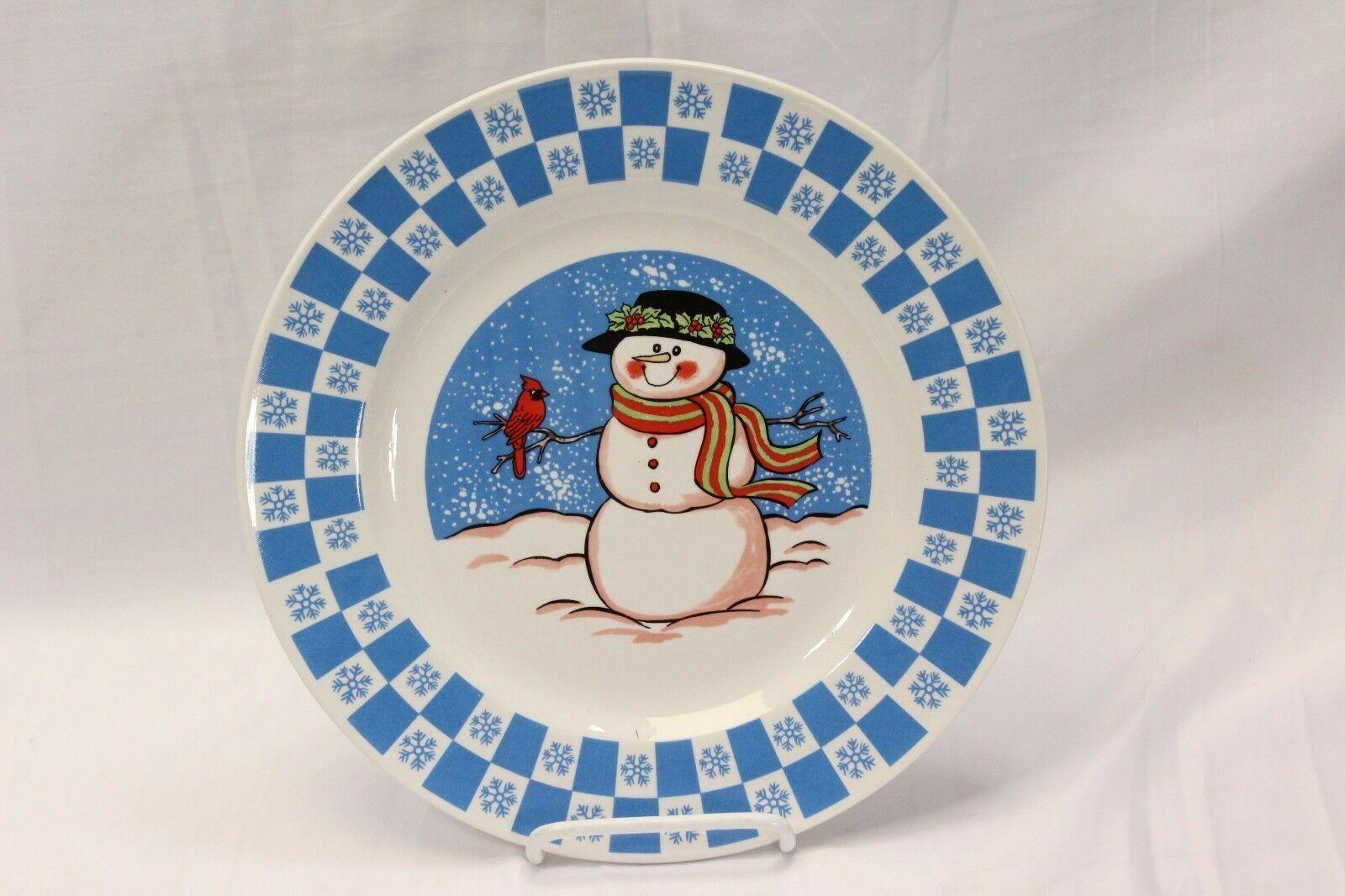 """GEI Snowman Xmas Dinner Plates 10.5"""" Set of 4 image 2"""