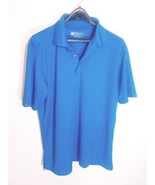 BERMUDA SANDS MEN'S POLO SHIRT WICK AWAY TECHNOLOGY BLUE SIZE SMALL SHOR... - $7.83