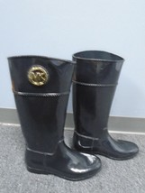 MICHAEL KORS Black Solid Rubber Casual Knee Len... - $95.03