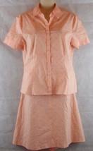 Calvin Klein 2 Piece Woman's Skirt & Blouse Outfit Size 8 Cotton Blend w/Spandex - $29.65