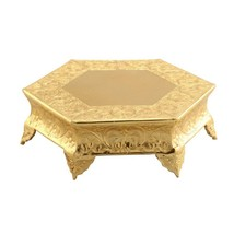 Metal Wedding Cake Stand, 16 inches, Gold - $108.47