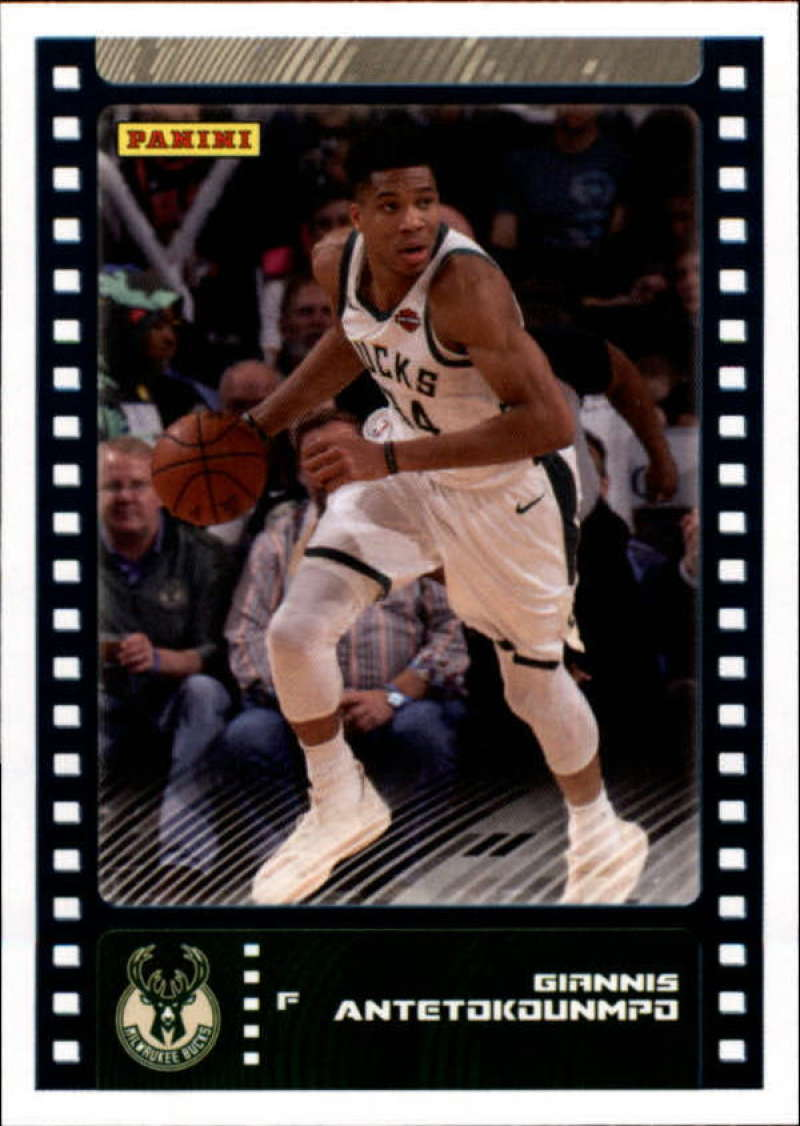 Primary image for 2019-20 Panini NBA Sticker Box Standard Size Insert #21 Giannis Antetokounmpo Mi