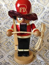 Steinbach Chubby Firefighter 2002 S1340 Nutcracker Germany Red Ladder Ro... - $64.34