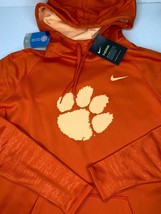 Womens Large Nike Clemson Tigers Sweatshirt Hoodie Polyester Fleece Lini... - $39.59