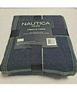 Nautica Chanel Throw Soft Touch Lightweight Navy Striped - $28.70