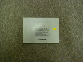 2003 Mazda All Models Warranty Information Manual Factory Oem Book 03 Deal - $11.13
