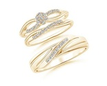 Diamond wedding bands engagement ring trio set for thumb155 crop