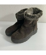 Skechers Outdoor Womens Boots Size 10 Dark Brown Suede Sherpa Lined 4523... - $49.49
