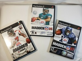SONY PS 2 MADDEN NFL 2004 2006 2007(ALL-MADDEN) GAMES**MANUALS IN EACH GAME - $11.99